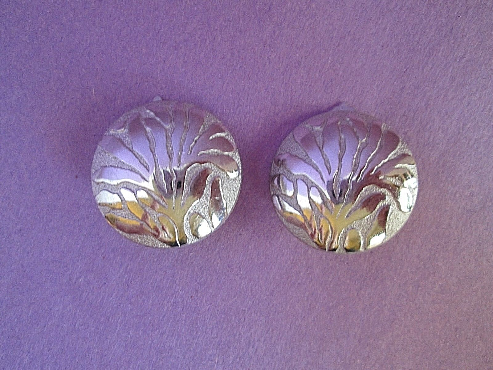 Lanvin Silver Tone Clip Earrings Germany Signed V… - image 5