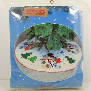 "Titan 1987 Woodland Forest Snowman 36"" Christmas Tree ..."