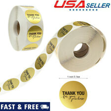 3X 1 Inch Round Gold Foil Thank You For Your Purchase Stickers // 500 E5N9