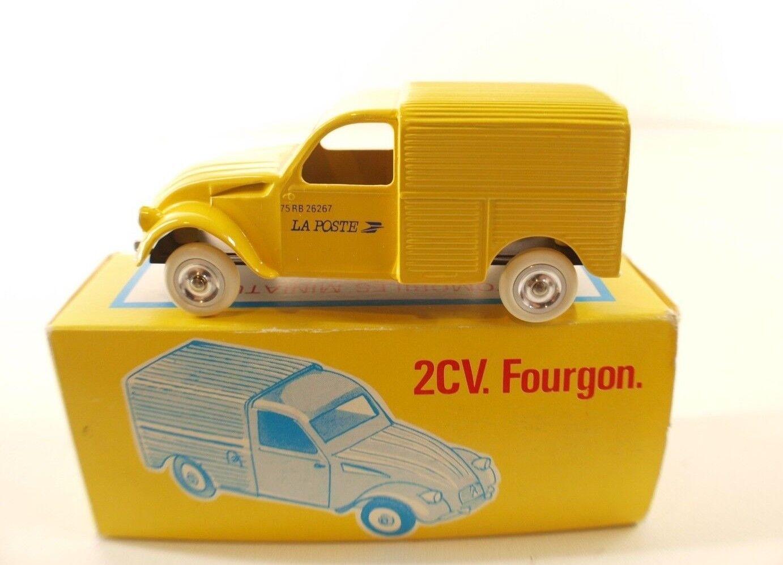 JRD n° 225 Citroën 2CV 2CV 2CV Fourgonnette La Poste PTT 1985 neuf en boite 1/43 | Exquise (in) De Fabrication  547681