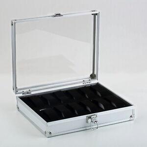 12Slot Watch Display Case Windowed Storage Jewelry Box Organizer Gift PU Leather