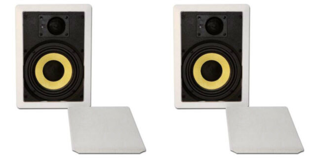 "NEW 2 6.5/"" In Wall Speakers.Ceiling Stereo Sound Pair.8x12 Frame.6-1//2.ceiling"