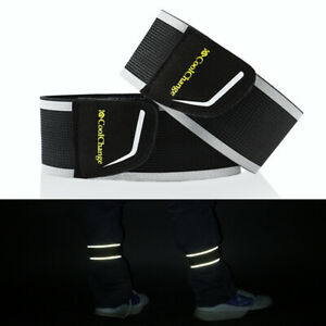 1Pair Cycling Safety Reflector Strap Belt  Bicycle Arm Leg Pant Reflective Band