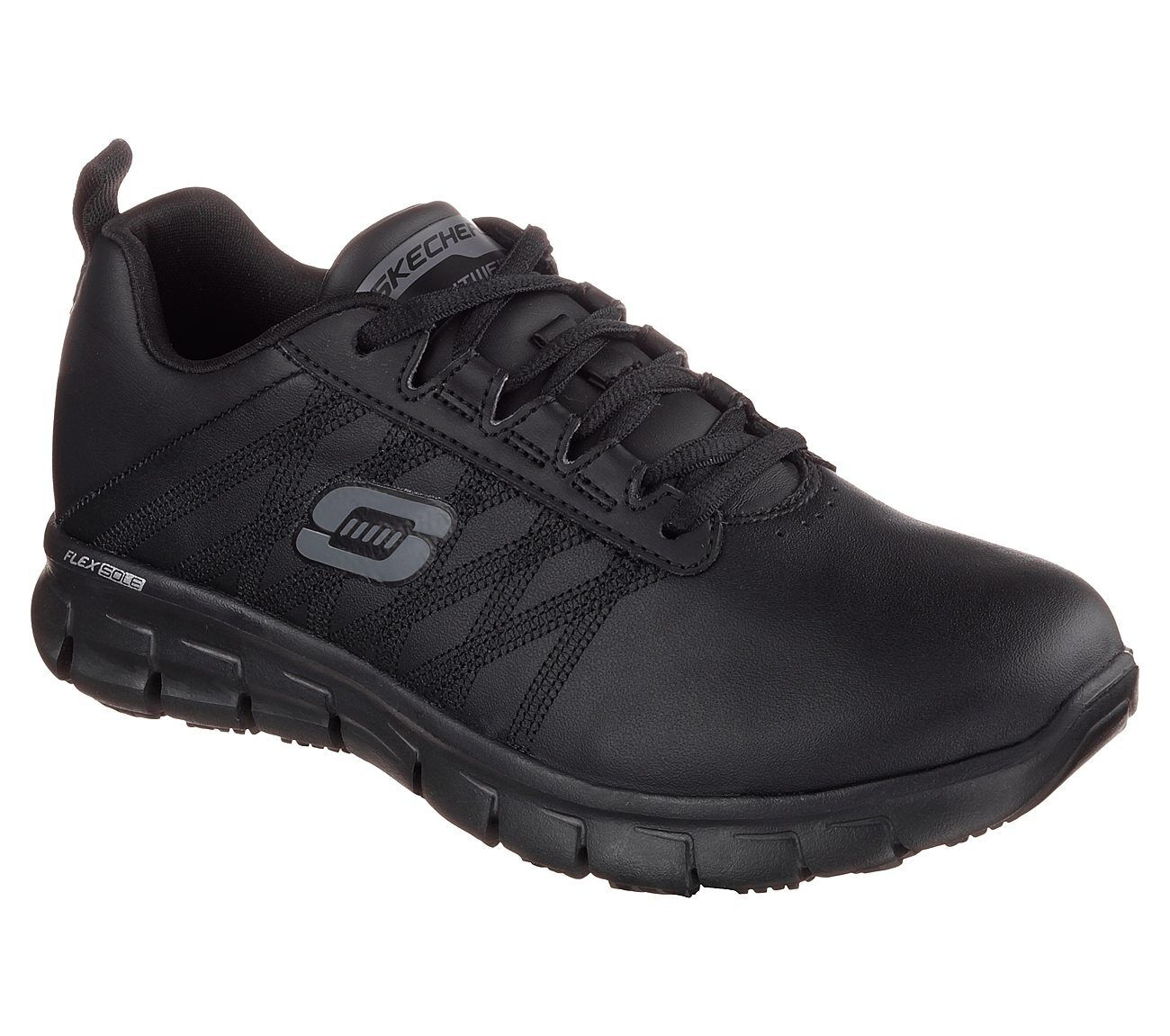 Skechers Skechers Skechers Work Relaxed Fit Sure Track Erath Femme Chaussures Antidérapant Cuir | Pas Cher