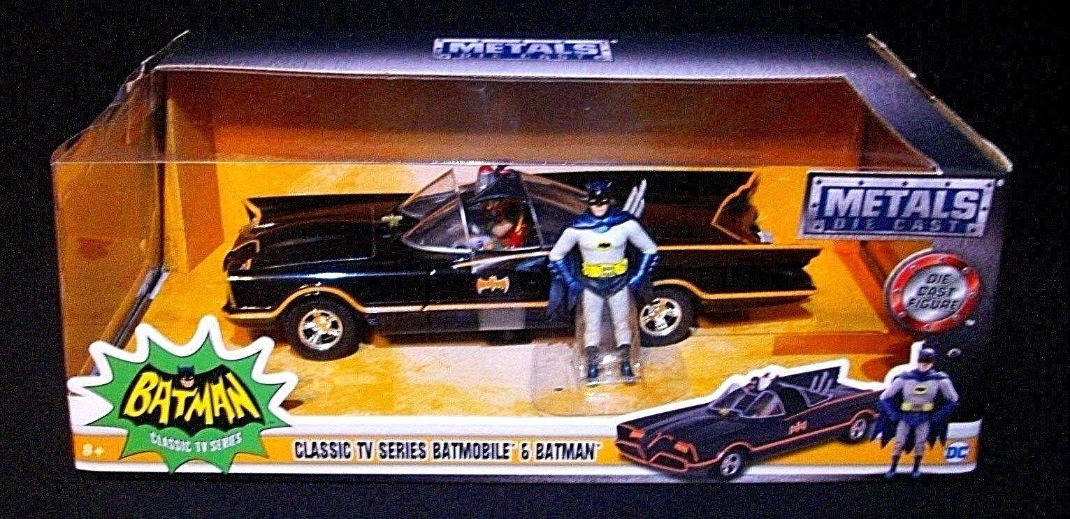 BATuomo Classic Classic Classic TV Series 1966 BATMOBILE w azione cifra DC Comics Die Cast Metal 8d335d