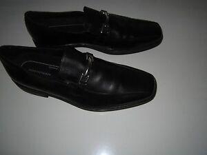 24435 pelle scarpe nere da Mocassini Bostonian eleganti uomo lucida 13m in 7BqfqOSdw