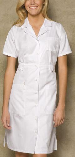 "Dickies Style 84500 Uniform Button Front WHITE Nurse/'s Dress 38/"""