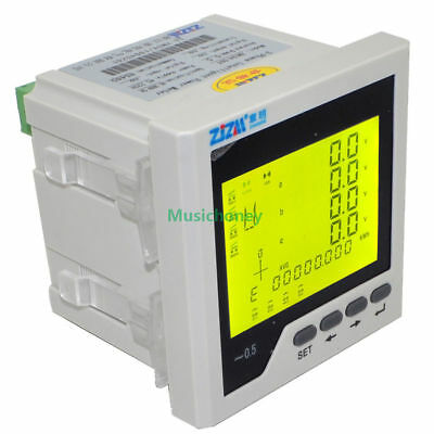 Intelligent Multifunction 3P Three-phase LCD Digital Network Power Meter 96*96mm