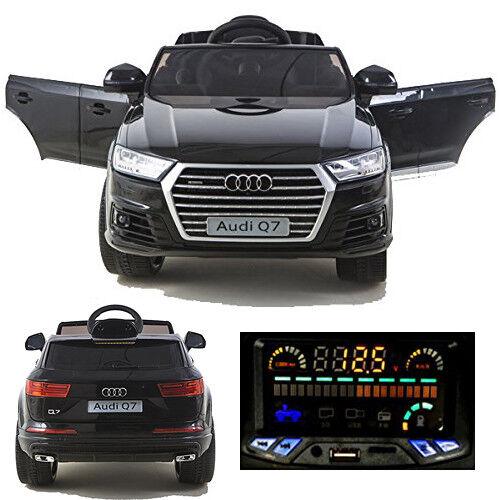 Audi Q7 quattro Kinderauto Kinderfahrzeug Kinder Elektroauto 2x Motoren 12V schw