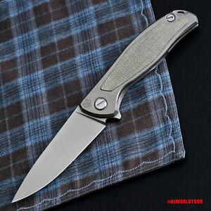 Details about NEW ORIGINAL Shirogorov F95NL Flipper Pocket Knife Micarta  Titanium Handle