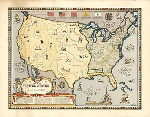 1957 Map United States At End Revolutionary War Indian Tribes Poster - Map-of-us-during-revolutionary-war