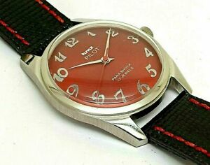 Details about Hmt Pilot Manual Winding Gents Steel Parashock 17J Vintage  India Watch Run Order
