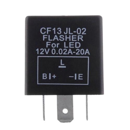3Pin Electronic Car Flasher Relay CF13 JL-02 fix LED light Hyper Flash Blinkin H