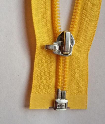 Cremallera diente de león-amarillo 001 nylon tamaño 5 divisible ykk ZIP fermuar cipzár