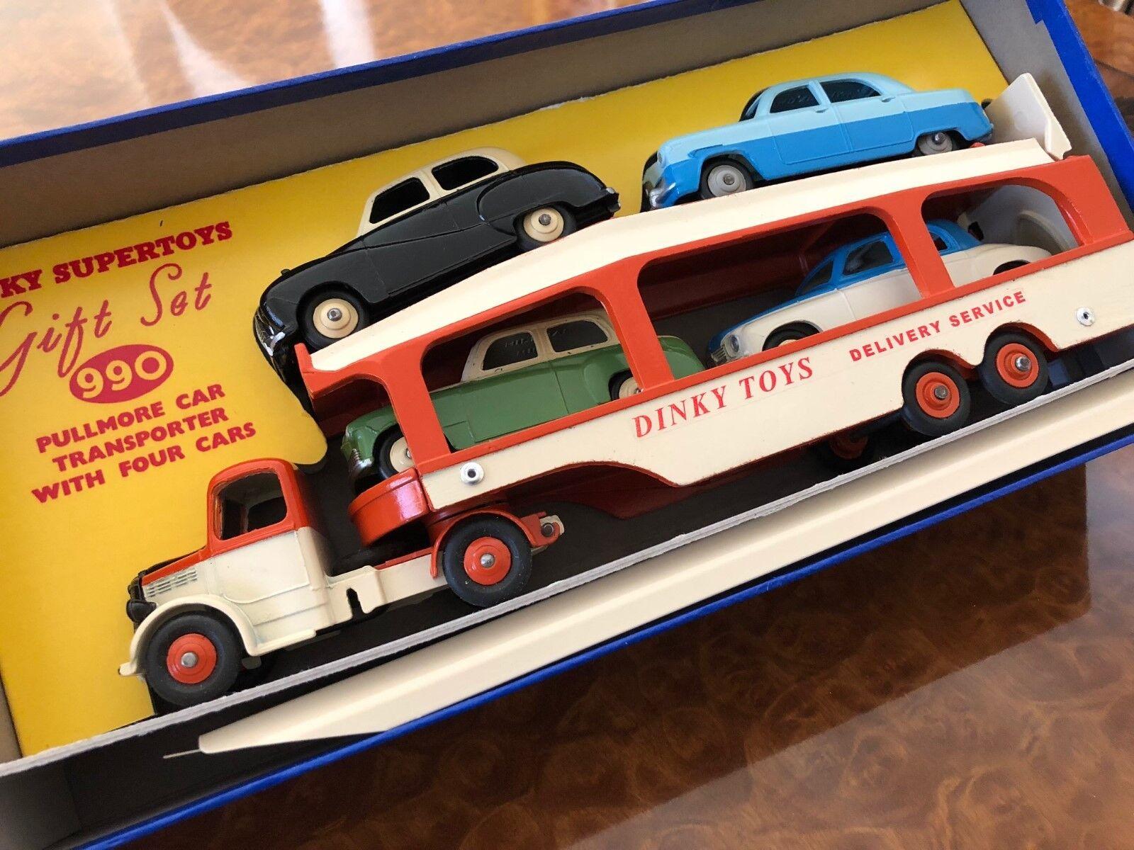 Vintage Dinky Supertoys Set de Regalo Pullmore Portavehículos + 4 Coches 990-M