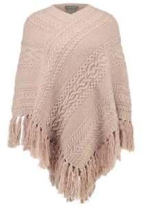 Women-039-s-Ralph-Lauren-Poncho-Sweater-Lambs-Wool-Cape-Camel