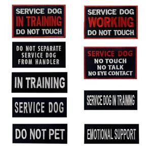Embroidered Patches Hook Loop Patch Service Dog Vest