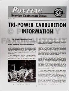 1957 pontiac tri power carburetor service manual 57 rochester triple rh ebay com 1956 Pontiac 1959 Pontiac