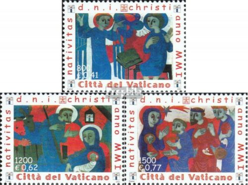 Vatican 1390A1392A complete issue unmounted mint never hinged 2001 christma