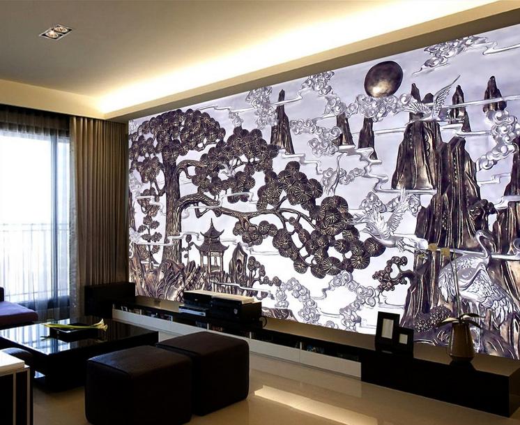 3D Kiefer-Pavillon-Berg 753 Tapete Wandgemälde Tapete Tapeten Bild Familie DE
