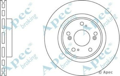 Pair 1x OE Quality Replacement Front Axle Apec Vented Brake Disc 5 Stud 300mm