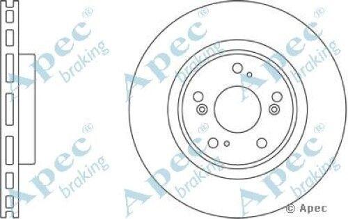 1x oe qualité remplacement essieu avant ventilé APEC frein à disque 5 stud 300mm-Paire