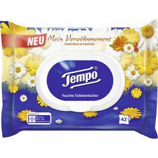 3 Pack (126 Tücher)Tempo feuchte Toilettentücher Calendula & Kamille