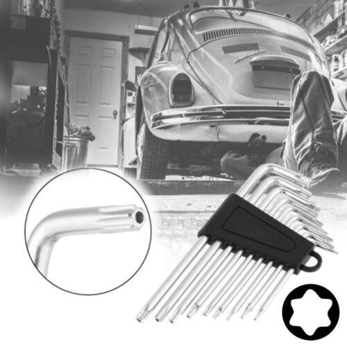 9 Pcs//set Hexagon Wrench Socket Key Safety Anti Tamper Proof Torx Bit Durable