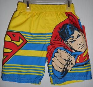 DREAMWAVE Swim Trunks Toddler BOYS SUPERMAN SWIM SHORTS SIZE 2 NEW WITH TAGS