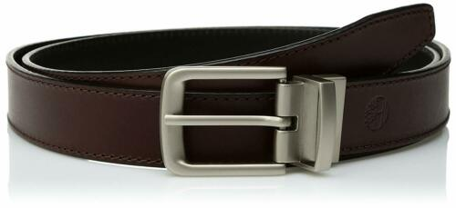 Timberland Men/'s Classic Belt Reversible From Brown To Black 100 /%Leather