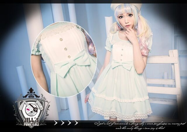 Lolita fairy kei vivi Tina's pastel palette dolly shirt dress 80915 G