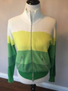 Sz L Sonia owned Pre Rykiel Up Strikket Jacket By Bomber Style Zip 7vZnP