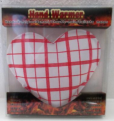 1 Handwärmer In Herz Form Ca. 10x9 Cm Rot / Weiß Verbraucher Zuerst