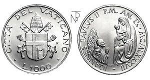 Travailleur Vaticano (giovanni Paolo Ii-an.ix) Lire 1000 1987 AgréAble Au Palais