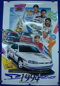 1994-Inaugural-Brickyard-400-Chevrolet-Monte-Carlo-Pace-Car-Collector-Poster