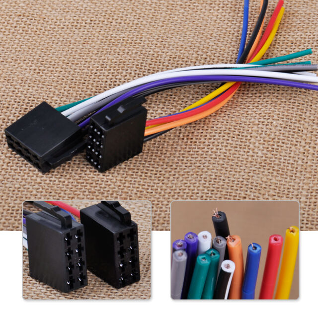 Universal ISO Wire Harness Adapter Connector Cable for Car Stereo on