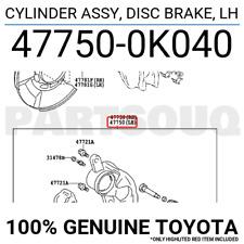 LH 477500K190 OEM DISC BRAKE GENUINE Toyota 47750-0K190 CYLINDER ASSY