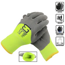 Safety Winter Insulated Double Lining Rubber 34coated Work Gloves Bgwans34 Lm