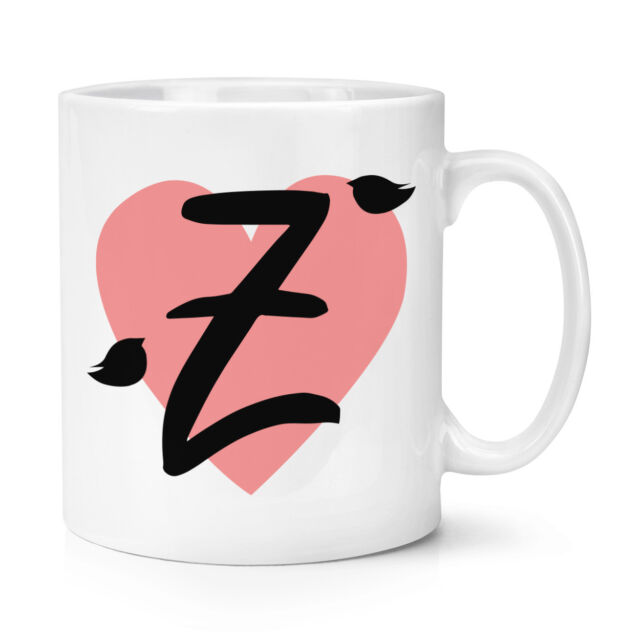 Letter Z Heart Alphabet 10oz Mug Cup Valentines Day Cute Love Ebay