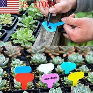 ILJ 100PC Plastic Plant Tags T-Type Markers Nursery Garden