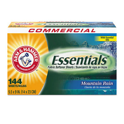 Cleaning & Janitorial Supplies Laundry Sheets & Wipes Cheap Sale Arm & Hammer Essentials Dryer Sheets Mountain Rain 144 Sheets/box 6 Boxes/carton