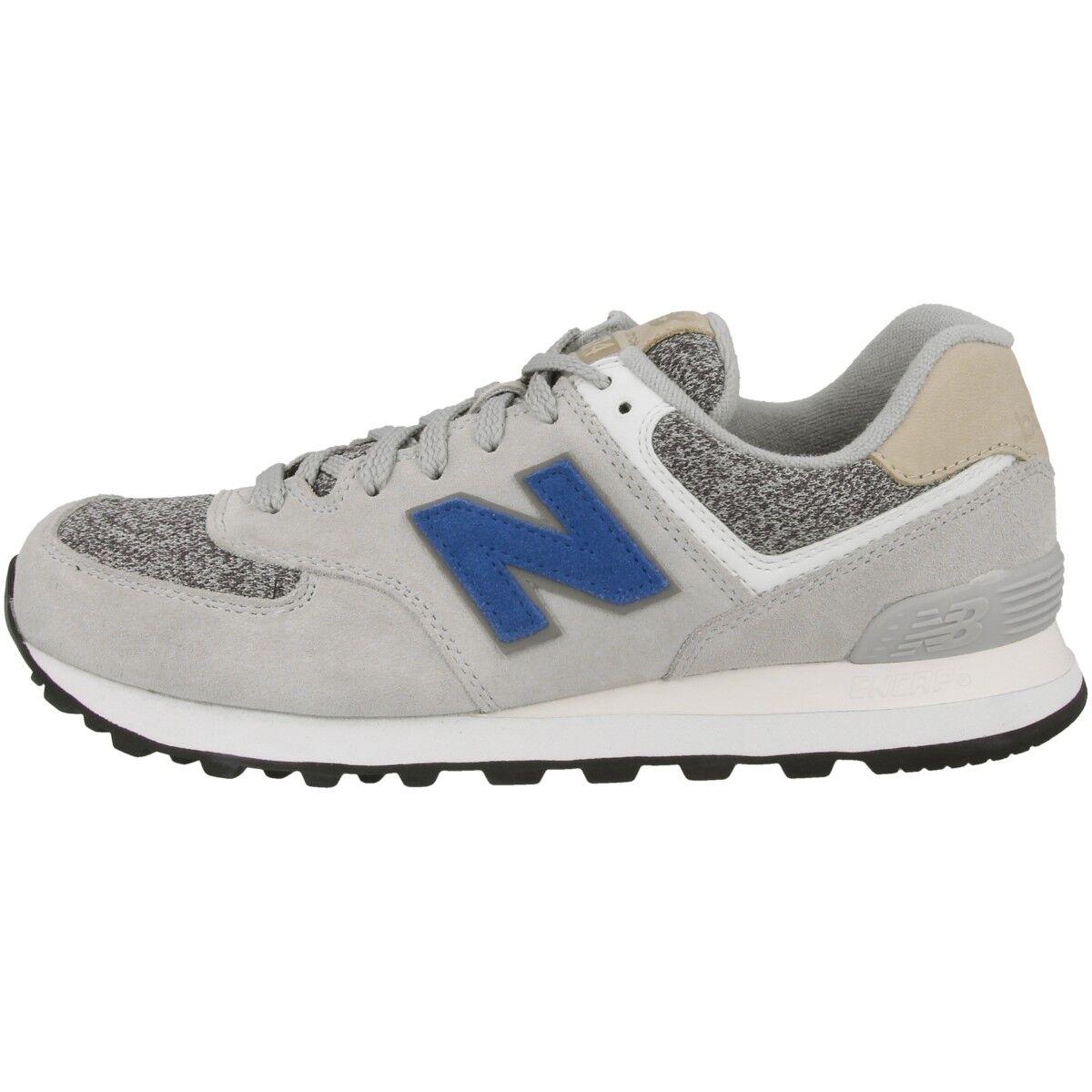 Zapatos promocionales para hombres y mujeres New Balance ML574 VAH Schuhe silver mink incense blue ML574VAH Freizeit Sneaker