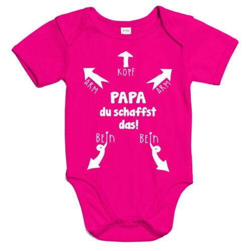 Papa du schaffst das Kopf Arm Bein Strampler Baby Shower Body Bio Baumwolle