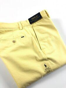 Polo-Ralph-Lauren-Homme-Chinos-WKT-jaune-classic-fit-Brosse-Serge