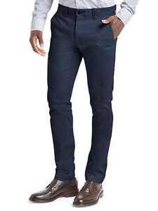 GAP Men's Stretch Skinny Fit Navy Blue Khaki Chino Pants 32x32 NWT $60 New