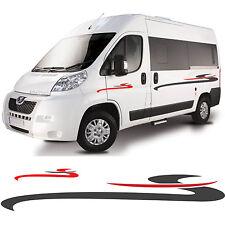 Motorhome Stripes Vinyl Stickers - Camper Van Horsebox Caravan RV Decals Graphic