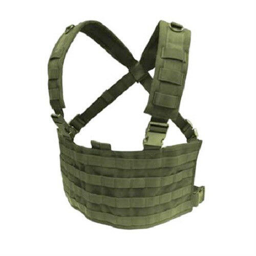 CONDOR-MOLLE-Modular-Tactical-Nylon-OPS-Chest-Rig-Vest-mcr4-OLIVE-DRAB-OD-Green