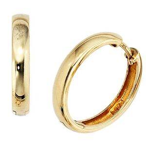 Creolen-333-Gelbgold-Gold-Ohrringe-Kreole-Klappmechanik-18-4-mm-NEU