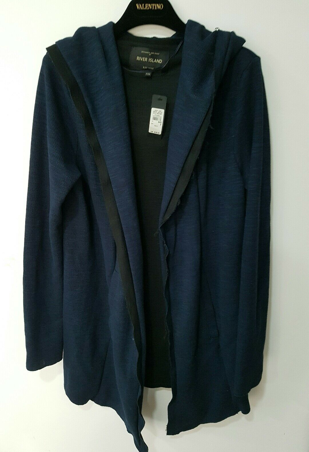 River Island men's bluee cardigan size XXS