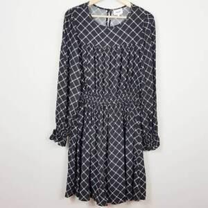 SEED-HERITAGE-Womens-Diamond-Print-Dress-Size-AU-10
